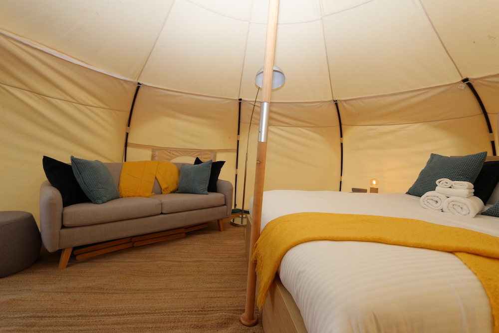 Daylesford-Glamping-Serenity--Comfortable Sofa