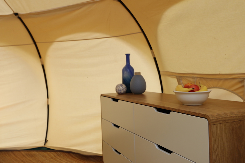 Daylesford-Glamping-Serenity-- Dresser with accessories