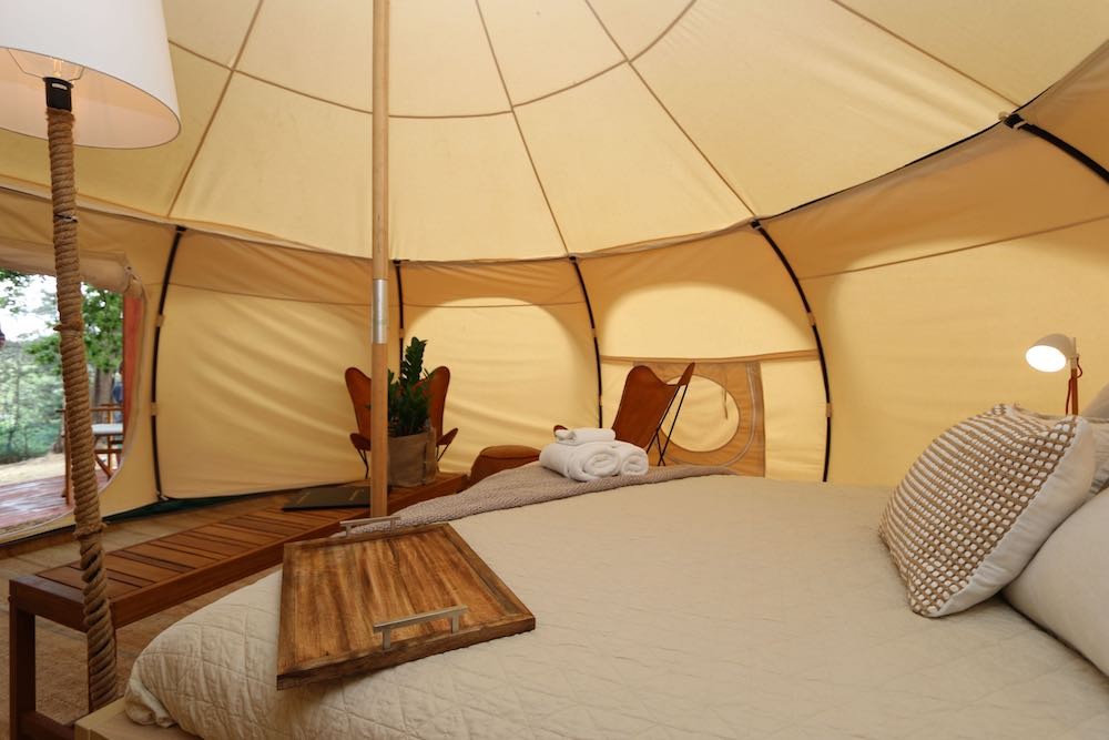 Daylesford-Glamping-Tranquility-Inside angle view