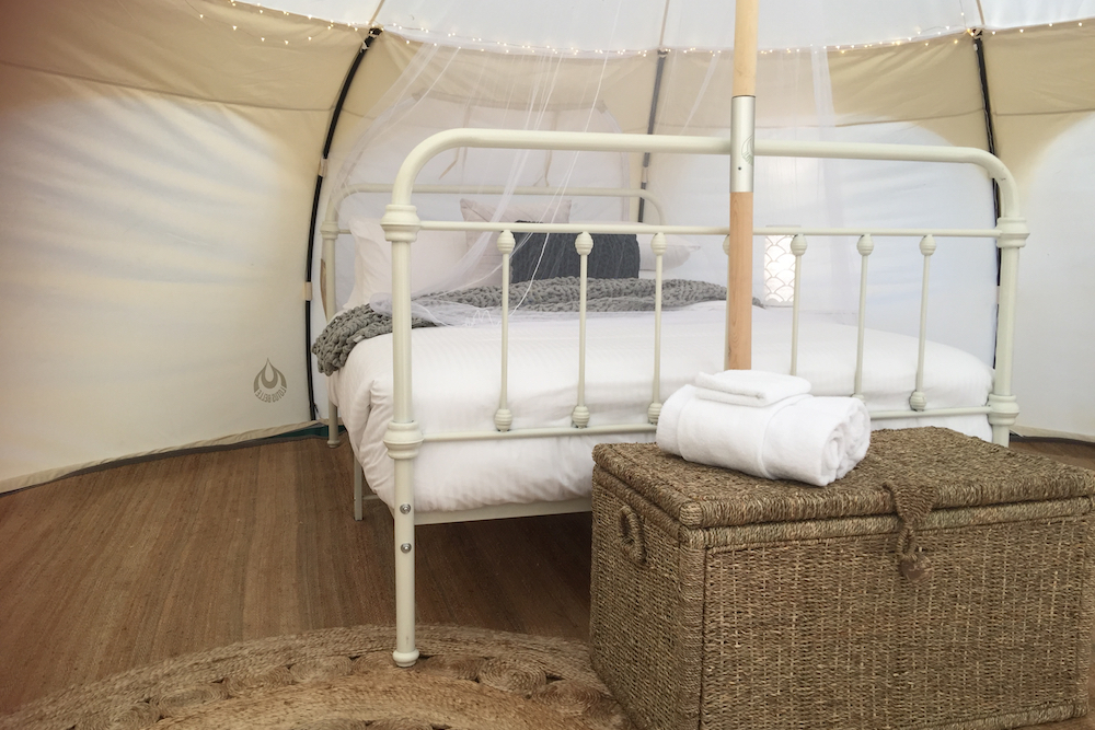 Harmony Belle Tent - Queen Bed with Netting - Daylesford Holiday Park