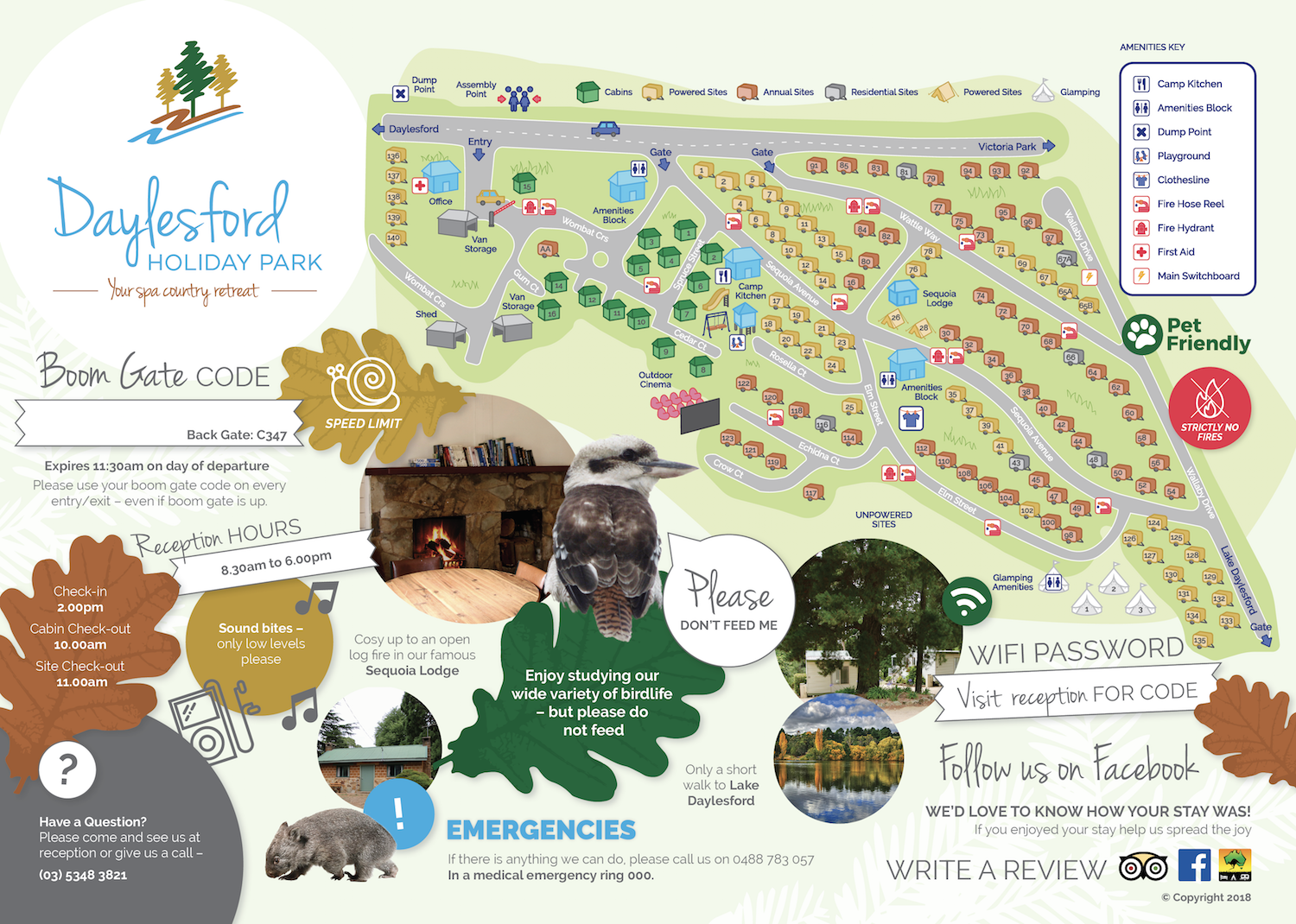 Daylesford Holiday Park Map