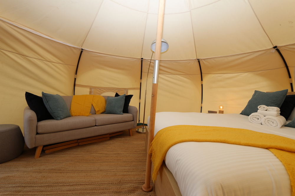 Daylesford-Glamping-Serenity-Interior Side View