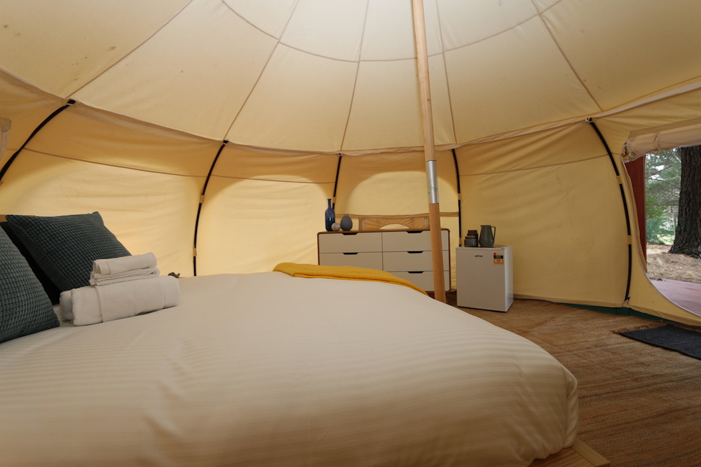 Daylesford-Glamping-Serenity-- Side peak to outdoors