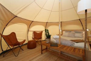 Daylesford-Glamping-Tranquility-Inside Wide Angled View
