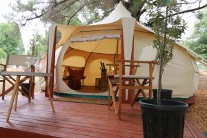 Daylesford-Glamping-Tranquility-Wide with Deck